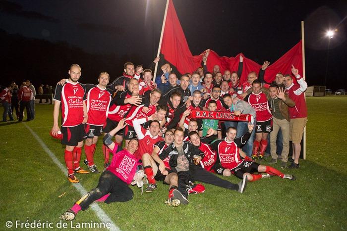 Match 2 du TF de P4 entre Lisogne B et Leuze B qui s'est déroulé à Lisogne (foot) le 03/05 /2014.