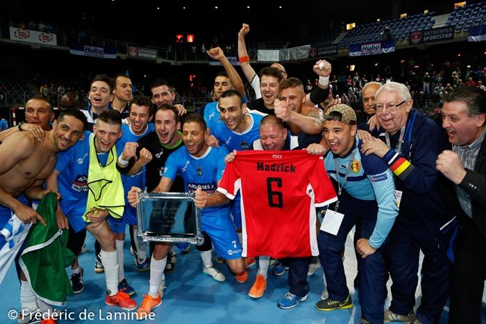 Finale retour de D1 Futsal entre Anvers et Châtelineau qui s'est déroulée à Anvers (Lotto Arena) le 30/05/2014.