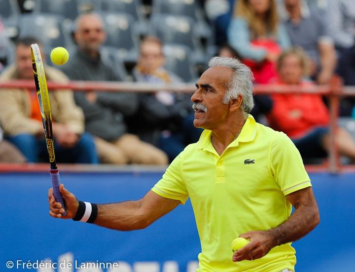Mansour Bahrami lors du Jaguar Tennis Trophy qui s'est déroulé à Namur (place St Aubain) le 14/06 /2014.