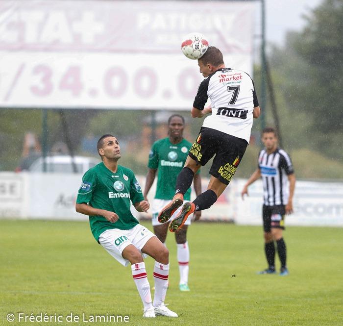 Clément TAINMONT (7) milieu du Sporting de Charleroi lors du Match de préparation entre le Sporting de Charleroi (D1) et le Royal Excelsion Virton (D2) qui s'est déroulé à Mariembourg (Stade du Roi Soleil) le 05/07/2014.
