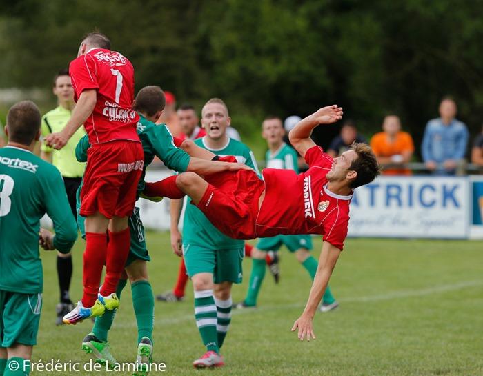 Match du 2e tour de la Coupe de Belgique Eprave – Rochefort qui s'est déroulé à Eprave (rue de la Gare) le 03/08/2014.