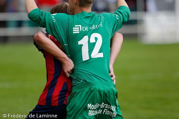 lors du Match de Football Promotion: Meux – Liège qui s'est déroulé à Meux (rue Janquart) le 31/08/2014.