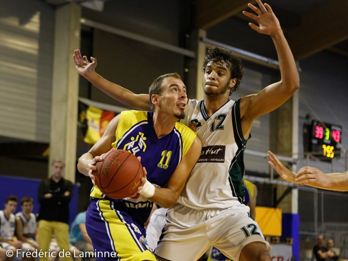 J-F. STACHE (11)  de la RUS Mariembourg lors du Match Basket-ball R1 Mariembourg – Quaregnon qui s'est déroulé à Couvin (Couvidome) le 20/09/2014.