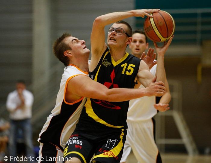 C. MARTIN (15)  de l'AS Mazy Spy lors du match de Basket-ballR2 : Andenne – Mazy qui s'est déroulé à Andenne (Andenne Arena) le 04/10/2014.
