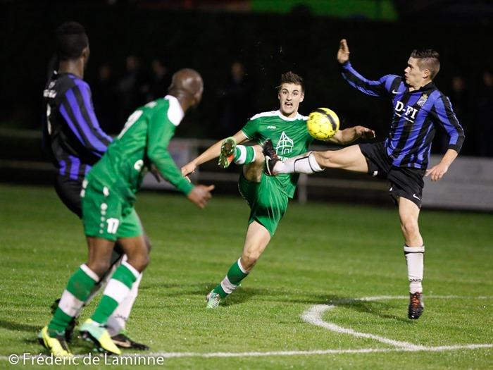 Gilles KINIF (20)  du RFC Meux lors du Match de Football Promotion: RFC Meux – RRC Hamoir qui s'est déroulé à Meux (terrain de foot) le 11/10/2014.