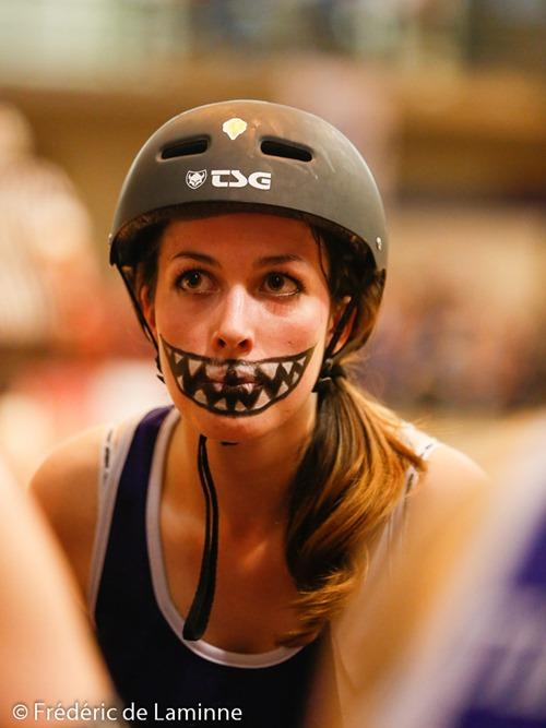 Match de Roller Derby Namur - Amiens qui s'est déroulé à Jambes (Adeps) le 18/10 /2014.