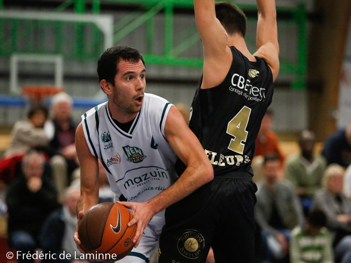 Selim BECA (4)  du New BC Alsavin Belgrade lors du Match de Basket-ball D2: Belgrade – Fleurus qui s'est déroulé à Belgrade (Complexe sportif) le 25/10 /2014.