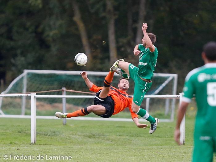 lors du Match de Football promotion : Meux – Mormont qui s'est déroulé à Meux (RFC Meux) le 26/10 /2014.