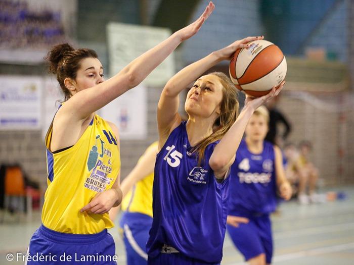M. BRYGO (15)  du New BC Profondeville lors du Basket-ballR2 dames :  Profondeville – Herve-Battice (25-01-2015) qui s'est déroulé à Profondeville (Complexe Sportif) le 25/01 /2015.
