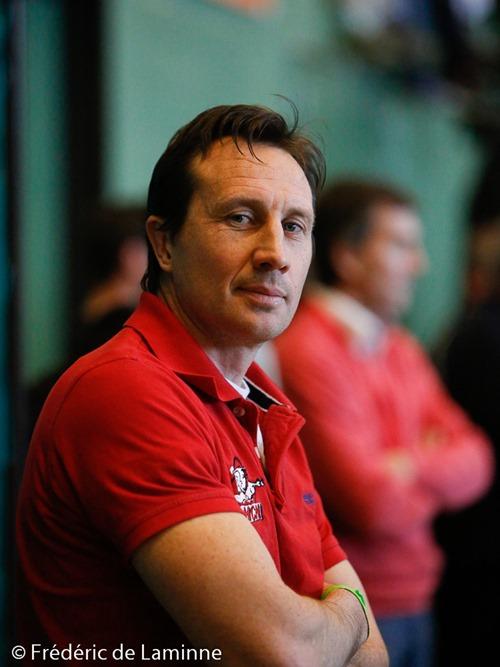 Vitali KHOLOPOV coach du RHCN lors du Match de Hockey: Finale salle Namur – Racing qui s'est déroulé à Auderghem (Complexe Foret de Soignes) le 08/02 /2015.