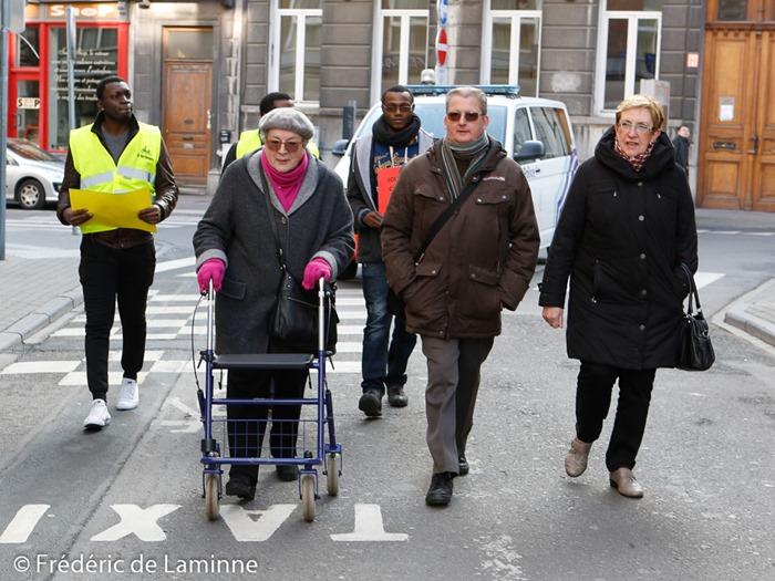 Marche Namuroise contre le terrorisme et l'intolérance qui s'est déroulé à Namur (ville) le 15/02 /2015.