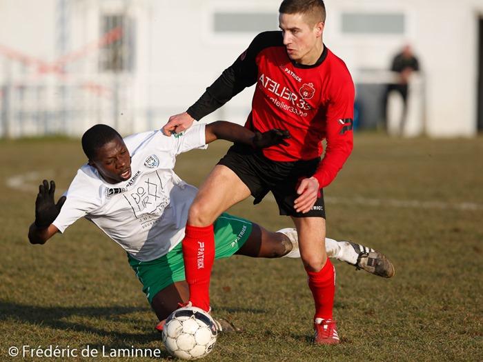 Match de Football promotion B: Assesse – Francs Borains qui s'est déroulé à Assesse (ville) le 15/02 /2015.