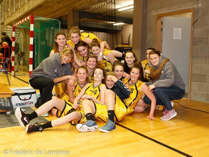 Andenne s'impose face à Bouge et remporte le titre en Basket-ballP2 dames le 1er mars 2015