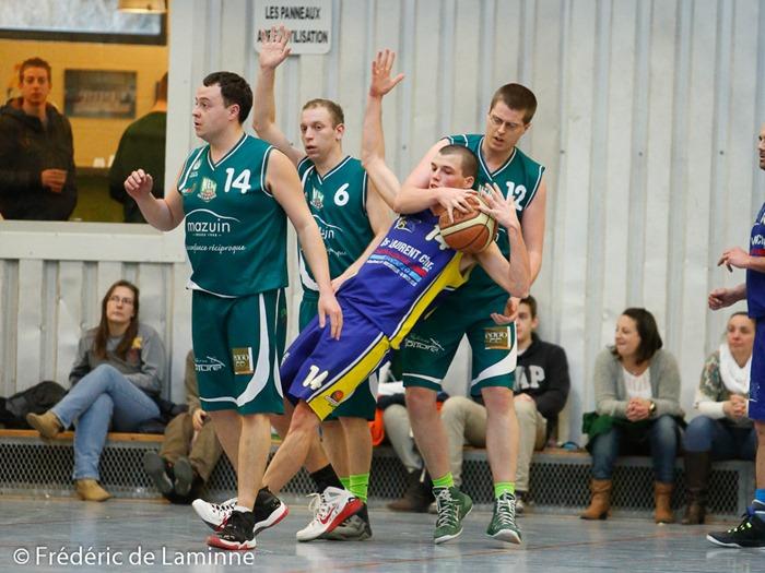 Match de Basket-ball P3C Belgrade-Andenne qui s'est déroulé à Belgrade (Hall sportif) le 22/03 /2015.