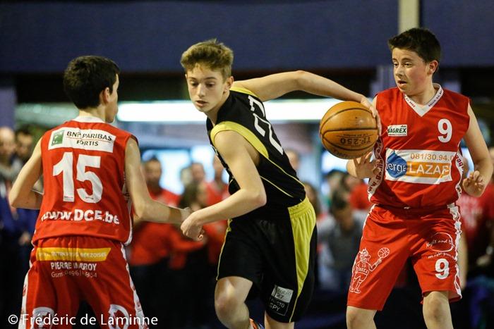 Match de Basket Coupe de la Province Pupilles Garcons: Mazy-Beez qui s'est déroulé à Malonne (Champ Ha) le 04/04 /2015.