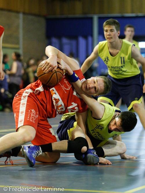 Match de Basket Coupe de la Province Cadets: Mariembourg-Beez qui s'est déroulé à Malonne (Champ Ha) le 04/04 /2015.