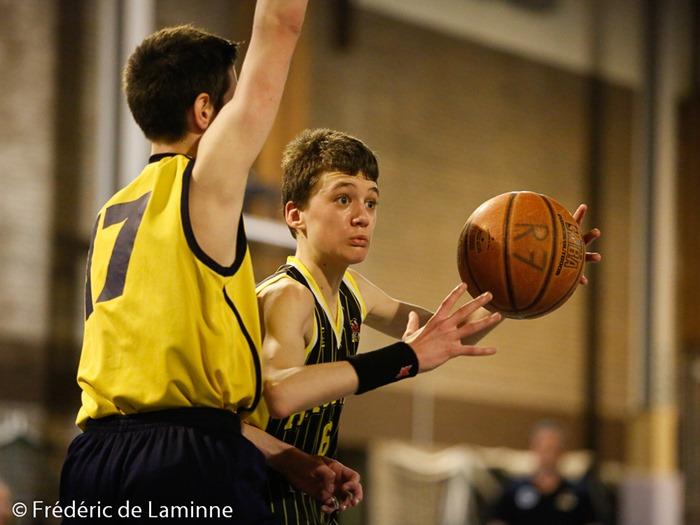 Match de Basket Coupe de la Province Minimes G: Natoye-Andenne qui s'est déroulé à Malonne (Champ Ha) le 05/04 /2015.