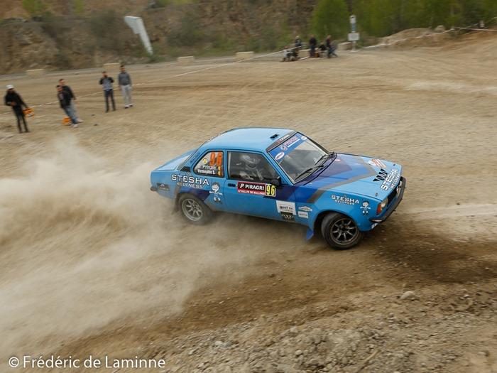 PRINZIE / VERMEULEN (equipage #96)   lors de l'ES11 Wartet du Rallye Wallonie  qui s'est déroulé à Marche les Dames (carrière) le 02/05 /2015.
