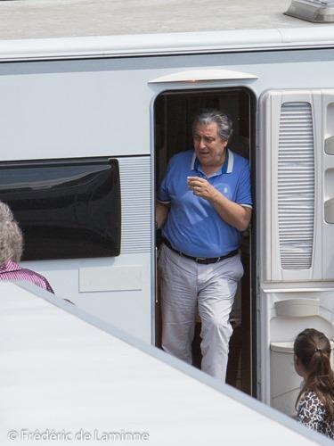 Christian Clavier lors du Tournage des Visiteurs 3 qui s'est déroulé à Namur (centre ville) le 13/06/2015.