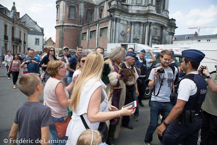 Franck Dubosc lors du Tournage des Visiteurs 3 qui s'est déroulé à Namur (centre ville) le 13/06/2015.
