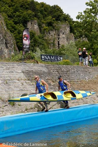 Championnat de Belgique de kayak marathon K2 qui s'est déroulé à Beez (port) le 28/06/2015.