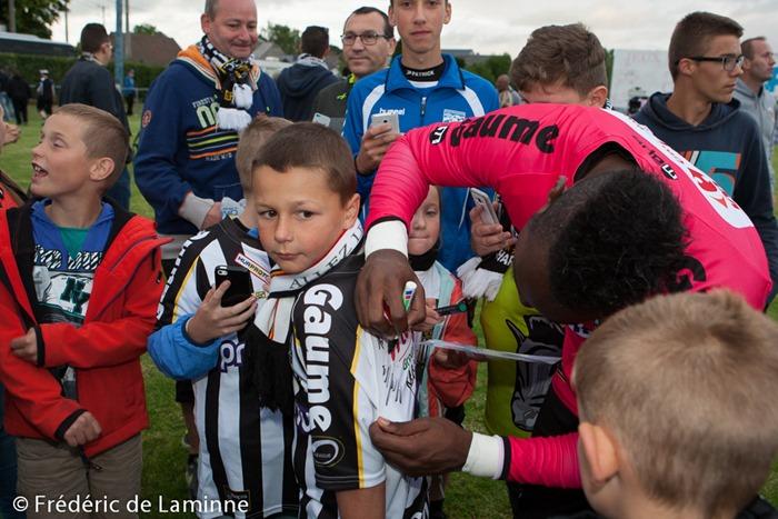 Match amical de Football : Charleroi – Virton qui s'est déroulé à Couvin Mariembourg (Stade du Roi soleil) le 08/07 /2015.