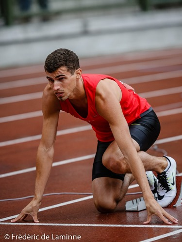 20150725 - Brussels, Belgium : BORLEE JONATHAN (#1622) during qualification heat of the 400m during Belgian Athletics Championship 2015 on 25/07/2015 in Brussels (Boudewijnstadion/ Stade Roi Baudouin)