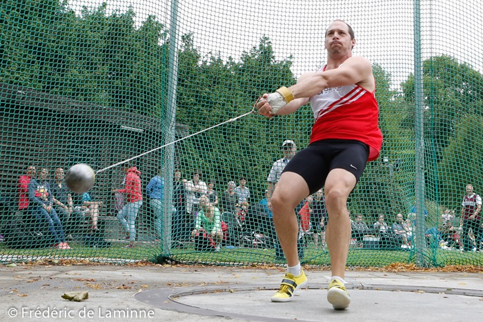 DE COSTER TIM compete in the hammer throw during finals of the Belgian Athletics Championship 2015 on 26/07/2015 in Brussels (Boudewijnstadion/ Stade Roi Baudouin)