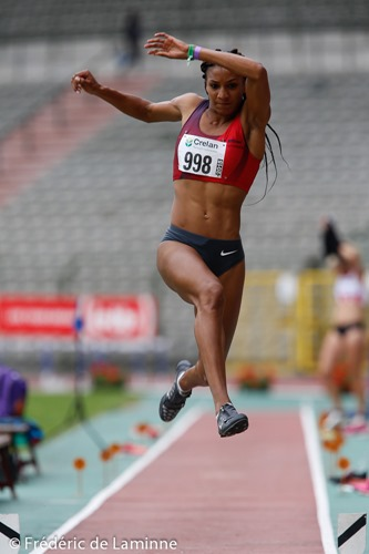 THIAM NAFISSATOU (998) du RFCL during finals of the Belgian Athletics Championship 2015 on 26/07/2015 in Brussels (Boudewijnstadion/ Stade Roi Baudouin)