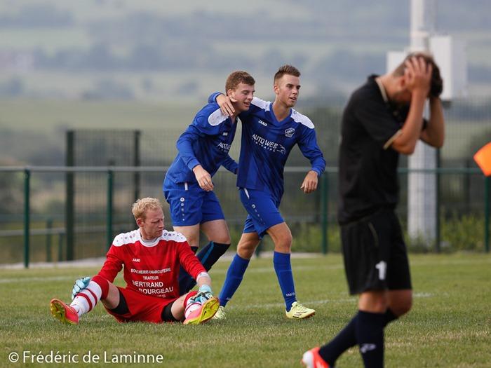 Match football de Coupe de la province Beauraing - Gesves qui s'est déroulé à Beauraing (-) le 09/08/2015.