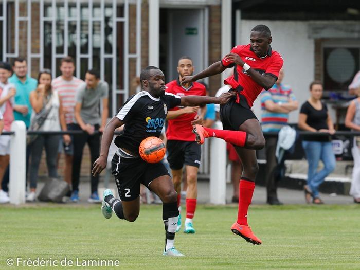 H. EPUTA NZULAMA (2) de la RJS Tamines lors du Match de Football Promotion D: Tamines – Patro Lensois (23-08-2015) qui s'est déroulé à Tamines (allée des Alouettes) le 23/08/2015.