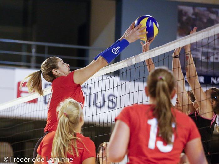 Match de gala de Volley-ball entre Namur Volley et les Dauphines de Charleroi qui s'est déroulé à Namur (Hall Octave Henry) le 04/09/2015.