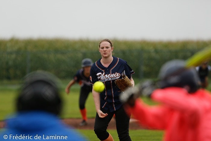 Match de Softball Dames lors du LFBBS All Stars (Baseball) qui s'est déroulé à Wépion (Namur Angels) le 12/09/2015.