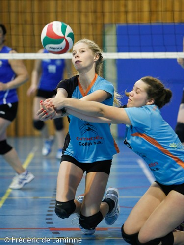 Match de Volley P1 dames: Ohey – Lesse/Lhomme qui s'est déroulé à Ohey (Complexe Sportif) le 03/10 /2015.