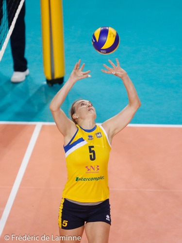 20151028 - Charleroi, Belgium : Maritza Plovdiv's Y. BOGMASTER (#5) during the CEV Cup women, 16th finals between Dauphines Charleroi and VC Martiza Plovdiv on 28/10/2015 in Charleroi (Spiroudome)