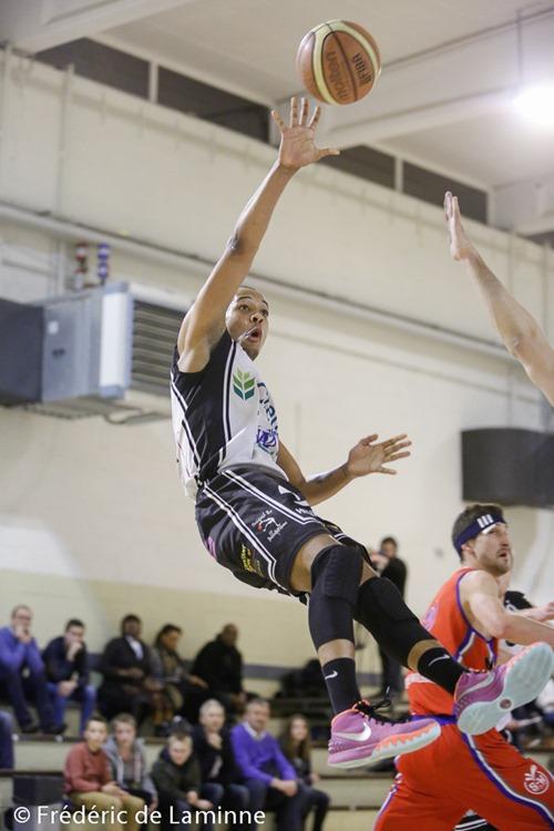 J. SEKI KANDI (9)  du RBB Gembloux lors du Match Basket-ball R1: Gembloux – Ste-Walburge qui s'est déroulé à Gembloux (Chapelle Dieu) le 13/02/2016.
