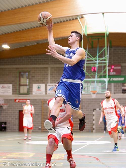 R. ROTILDE (10) du Royal Mosa Jambes lors du Match de Basket-ball P1: Mosa Jambes – Faulx qui s'est déroulé à Jambes (Hall du Souvenir) le 10/04/2016.