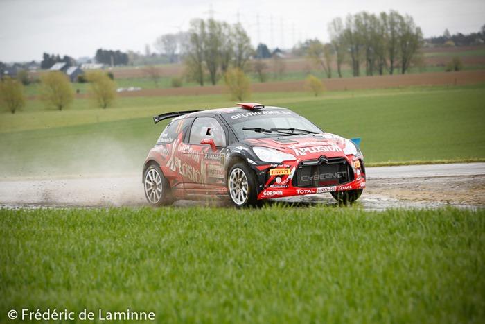 DUVAL / BOURDEAUD'HUI (#11) sur DS 3 R5 (RC2 R5) lors de l'ES 7 Vedrin du Rallye de Wallonie qui s'est déroulé à Warisoulx () le 30/04/2016.