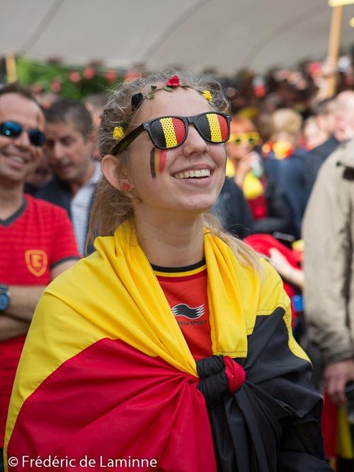 Lors de la Retransmission du match Belgique - Irelande qui s'est déroulé à Eghezée (Complexe sportif) le 18/06/2016.