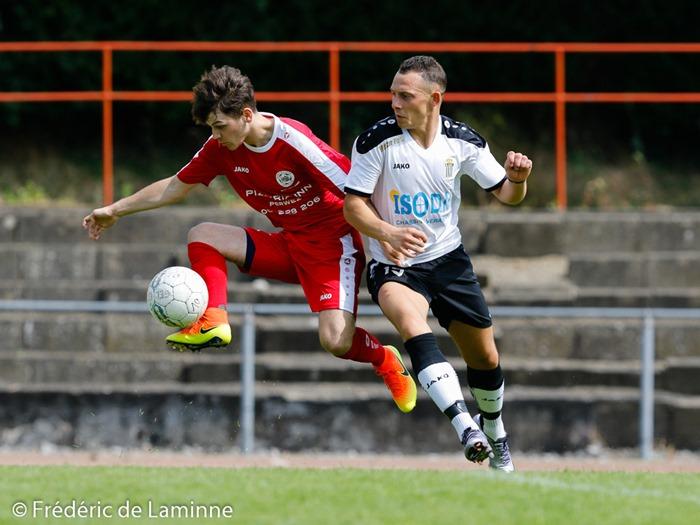 match amical Tamines - Aische qui s'est déroulé à Jambes (Stade Adeps) le 21/07/2016.