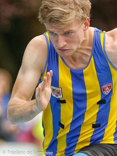 Départ 200m espoirs lors du Championnat de Belgique d'Athlétisme Juniors-scolaires qui s'est déroulé à Nivelles (CABW) le 11/09/2016. Photo : Frédéric de Laminne