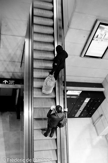 Escalator dans la gare de Namur