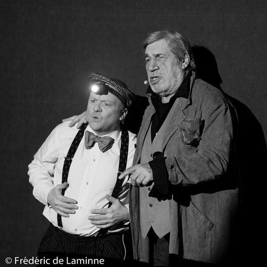Christophe Delire et Jean-Pierre Castaldi lors du Spectacle la Boite à images qui s'est déroulé à Rochefort (Square de l'amicale) le 04/02/2016.