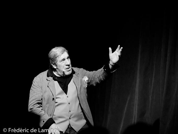 Jean-Pierre Castaldi lors du Spectacle la Boite à images qui s'est déroulé à Rochefort (Square de l'amicale) le 04/02/2016.