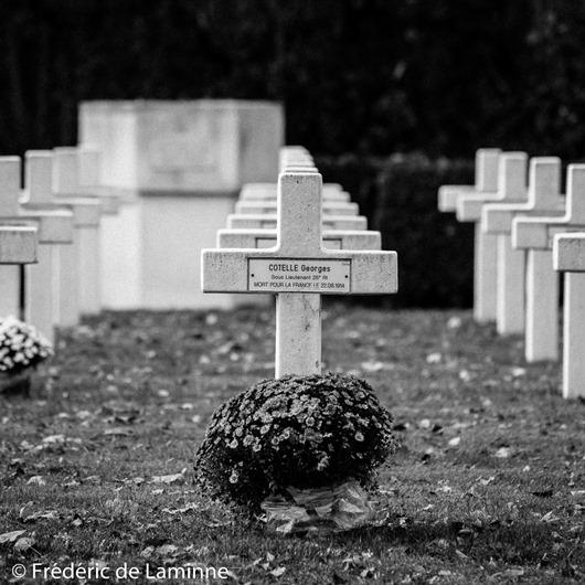 Le cimetière de La Belle Motte. 08/11/2016.