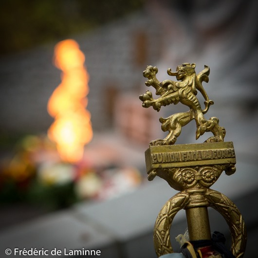 Cérémonie de Commémoration du 11 Novembre qui s'est déroulée à Jambes (Parc Reine Astrid) le 11/11/2016. Photo : Frédéric de Laminne