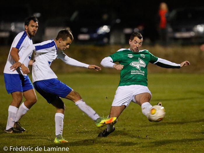 Match de FootballP1J13 : Pesche – OC Nismes qui s'est déroulé à Pesche (Carrière du Parrain) le 19/11/2016.