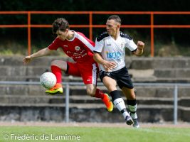 lors du match amical Tamines – Aische qui s'est déroulé à Jambes (Stade Adeps) le 21/07/2016.