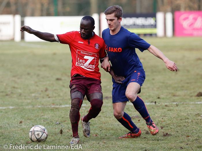 Profondeville tiens Mons lors du Match de Football D3ACFF Profondeville - Mons qui s'est déroulé à Profondeville (r. du Cimetière) le 29/01/2017.