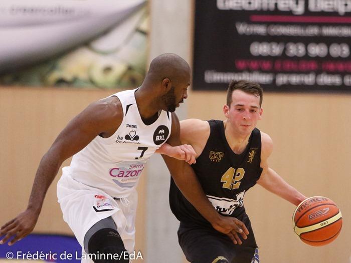 J. STEINIER (42) du CEP Fleurus lors du Match de Basket-ball 1/2 finales AWBB: CEP Fleurus – Royal IV Bruxelles qui s'est déroulé à Natoye (Hall sportif) le 29/01/2017.